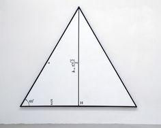 BERNAR VENET STUDIO - equilateral triangle