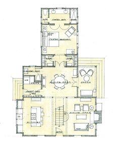 Randolph Cottage, 3 bedrooms, 2 bathrooms, Main floor 1200 sq. ft., Upper floor 600 sq. ft.