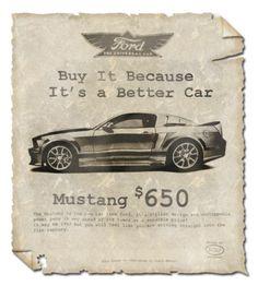 Publicidad de Mustang.