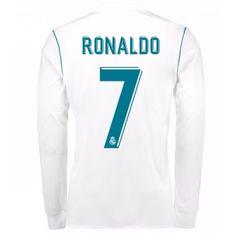 Real Madrid Cristiano Ronaldo 7 Hemmatröja 17-18 Långärmad  #Billiga #fotbollströjor
