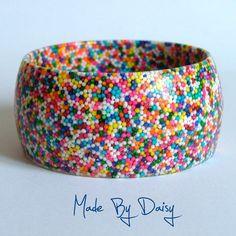 Hundreds and Thousands Rainbow Bangle - Folksy