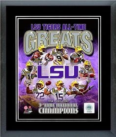 Louisiana State University All Time Greats Framed With double black matting Ready To Hang- Awesome & Beautiful-Must For A Championship Team Fan! Most Teams Available-Please Go Through Description & Mention In Gift Message If Need A different Team-Choose Size Option! (16 x 20 inches Louisiana State University All Time Greats framed print) Art and More, Davenport, IA http://www.amazon.com/dp/B00NEQ8CA2/ref=cm_sw_r_pi_dp_h9oxub0WD8TP0
