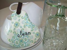 CLOSE OUT and FINAL Sale Clean/ Dirty by IdasBrooklynBarn on Etsy, $6.00