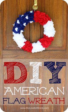 DIY American Flag Wreath