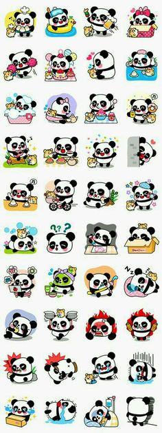 CUTE I LOVE PANDAS