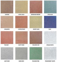 Boise Id Water Based Concrete Color Stain Chart