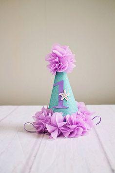 Under the Sea Girl Birthday Hats..1st Birthday Hat...First Birthday Hat..Mermaid Birthday..Baby Girl Birthday Hat..Silver Birthday..2nd by SuriPieCreations on Etsy https://www.etsy.com/listing/269157257/under-the-sea-girl-birthday-hats1st
