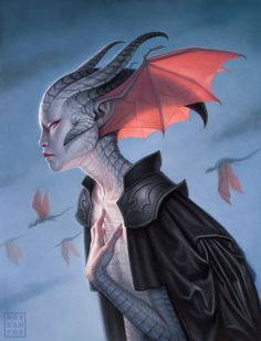 The Dragon Empress Picture  (2d, fantasy, illustration, dragon, creature)