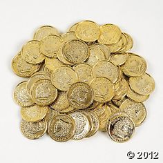 choc gold coins. Mario party. Or pirate/mermaid party.