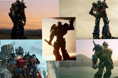 Todos os finais dos 5 filmes... Todos com frases lindas do Optimus... E a partir do 4 com a cinturinha dele tbm...