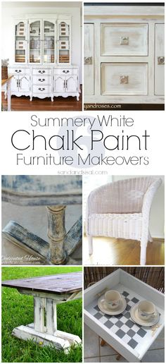 Old White Chalk Paint With Different Top Coats Painted Furniture