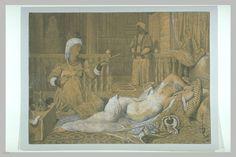 INGRES Jean Auguste Dominique L'Odalisque à l'esclave en 1858