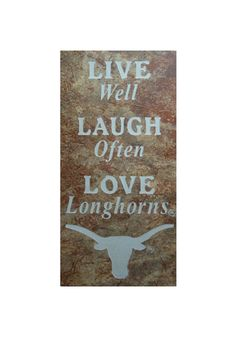 Texas Longhorns Live Laugh Love Trivet