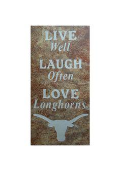 Texas Longhorns Live Laugh Love Trivet