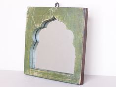 Upcycled Green Vintage Temple Mirror