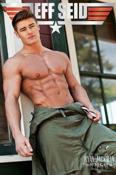Fashion of Men's Underwear.: Muscle Male Model: Jeff Seid by Ryan Jackman Photography Military Looks, Military Men, Jeff Seid, Steve Reeves, Country Men, Muscular Men, Shirtless Men, Man Photo, Male Beauty