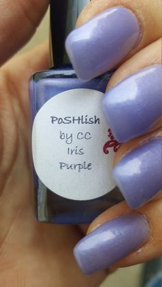 Unique Pastel Iris Purple Nail Polish Full Size 15ml Bottle by PoSHlish on Etsy