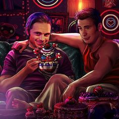 """No Steve, it's not 'Too Much'. There's no such things as 'Too Much' ""  Happy Early Valentine's Day for the Stucky fans out there. Enjoy this very Red, White and Blue Valentine's Day party with Steve and Bucky"