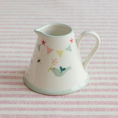 Hand-painted with a pretty apple blossom design, this small jug is perfect for serving milk. Fabric Covered Boxes, Fabric Boxes, Small Gifts For Men, Small Storage Boxes, Susie Watson, Rustic Kitchen Decor, Bee Design, Pottery Painting, Birds