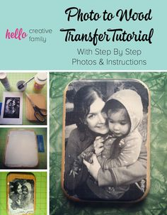 Christmas gift idea | Photo to Wood Transfer Tutorial With Step By Step Photos and Instructions.