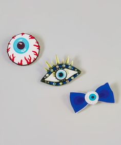 Another great find on #zulily! Eyeball Pin - Set of Three #zulilyfinds
