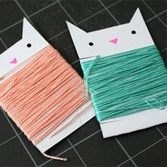DIY String Organizers A cute and easy way to get your embroidery floss collection straightened out. Check it out right meow! Cat Crafts, Diy And Crafts, Paper Crafts, Craft Organization, Craft Storage, Organizing, Sewing Hacks, Sewing Crafts, Sewing Tutorials