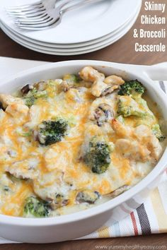 Healthy Dinner Recipes for Beginners: Skinny Chicken and Broccoli Casserole by Yummy Healthy Easy paleo for beginners recipes Food For Thought, Skinny Recipes, Healthy Recipes, Vegetarian Recipes, Skinny Chicken, Casserole Recipes, Rice Casserole, I Love Food, So Little Time