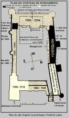 Plan des Schlosses zu Königsberg i.Pr. (Französisch)