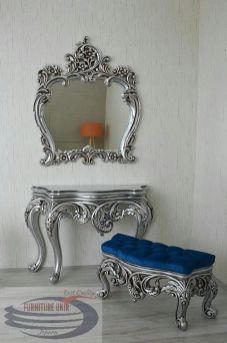 Home Decoration-Entryway furniture-Console Table Silver Furniture, Royal Furniture, Victorian Furniture, Entryway Furniture, Classic Furniture, Home Decor Furniture, Unique Furniture, Luxury Furniture, Painted Furniture