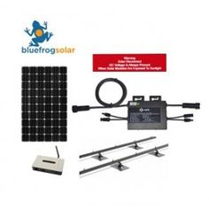 Blue Frog Grid Tie Solar System Kit with Pitched Roof Mounting - Made in WA Solar System Kit, Solar Electric System, Off Grid Solar Power, Solar Power Kits, Off Grid System, Product Life, Emergency Power, Racking System, Off The Grid