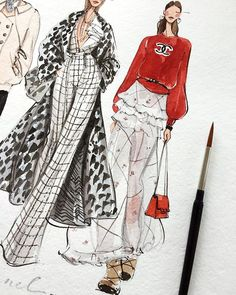 Fashion design sketches 516365913530562447 - Source by amours_passions Dress Design Sketches, Fashion Design Sketchbook, Fashion Design Portfolio, Fashion Design Drawings, Fashion Sketches, Art Sketches, Mode Vintage Vogue, Vintage Vogue Fashion, Classy Fashion