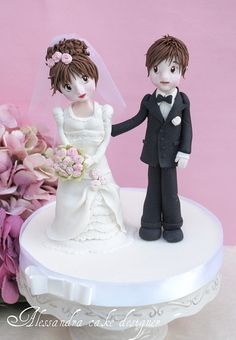 Topper Weddig Cake by Alessandra Cake Designer, via Flickr