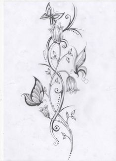 with Vine Drawing Lotus Flower. with Vine Drawing. with Vine Drawing. I Would Add A Little Color but It S A Nice Sketch in lotus flower drawing I would add a little color but it s a nice sketch Butterfly With Flowers Tattoo, Mandala Flower Tattoos, Butterfly Tattoos For Women, Spine Tattoos For Women, Butterfly Tattoo Designs, Tattoo Flowers, Butterflies, Flower Foot Tattoos, Ankle Tattoos For Women Mandala