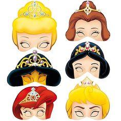Antifaces de princesas para imprimir - Imagui