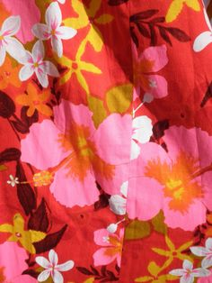 Vintage hawaiian shirt fabric