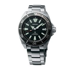 New Seiko Automatic Prospex Samurai Divers Mens Steel Bracelet Watch Guaranteed Brand New and Authentic. This watch will ship with original Seiko box, warranty card and instructions manual. Brand Name Seiko Model Con. Seiko Diver, Seiko Automatic, Automatic Watch, Black Stainless Steel, Stainless Steel Bracelet, Seiko Samurai, Rolex, Affordable Watches, Omega Seamaster