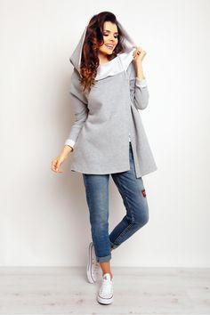 Bluza Damska Model M096 Grey Infinite You  Zapraszam na www.margery.pl