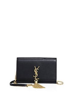 4b62481383a9 Saint Laurent - Kate Monogram Leather Tassel Chain Wallet