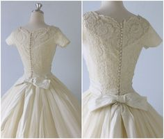 Breathtaking Bridal Gowns from The Vintage Mistress....the buttons and the sleeves are just stunning