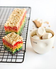St. Patrick's Day *Food* - Rainbow Rice Crispy Treats (tutorial)