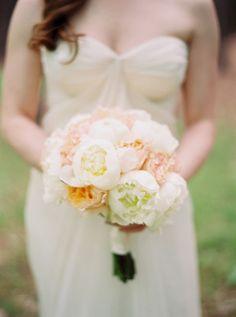 Peonies: http://www.stylemepretty.com/2015/03/30/whimsical-pine-grove-wedding/ | Photography: Josh Gooden - http://www.joshgooden.com/
