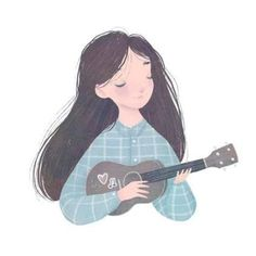 64 Ideas For Music Girl Illustration Artists Art And Illustration, Musik Illustration, Character Illustration, Girl Illustrations, Ukulele Drawing, Ukulele Art, Cartoon Kunst, Cartoon Art, Dibujos Cute
