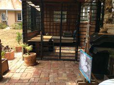 Dog house enclosure.