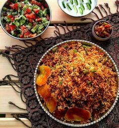 Have you had your lunch? Enjoy Persian Lubia Polo (beef and green bean rice) with us.