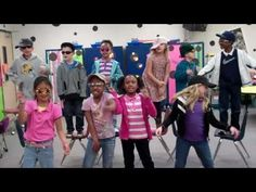 1st & 2nd graders perform a rap they co-wrote about the 3 states of matter (solid, liquid & gas).