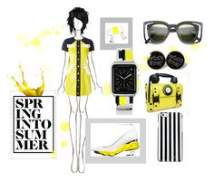 """""""Spring Into Summer"""" by blackdoor ❤ liked on Polyvore featuring Courrèges, MICHAEL Michael Kors and Casetify"""