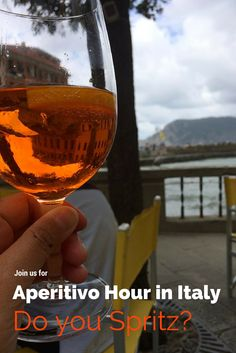 Our favorite hour in Italy is Aperitivo Hour (happy hour). There's drinks and free (delicious) food! Join us for some of the best ones on the blog!  #aperitivo #spritz #travel