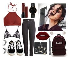 """""""WASTED"""" by patricia-manso ❤ liked on Polyvore featuring Vans, Elise Dray, Topshop, NARS Cosmetics, J.Crew and Lime Crime"""