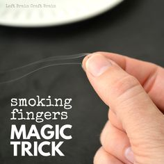Cool Science Magic Trick - Smoking Fingers Trick-Cool Science Magic Trick – Smoking Fingers Trick Wow friends and family with the smoking fingers trick. A matchbox and a little bit of science is all it takes to make your fingers smoke. Science Magic Tricks, Magic Tricks For Kids, Awesome Magic Tricks, Funny Magic Tricks, Magic Tricks Videos, Science Experiments Videos, Magic Video, Easy Magic, Brain Tricks