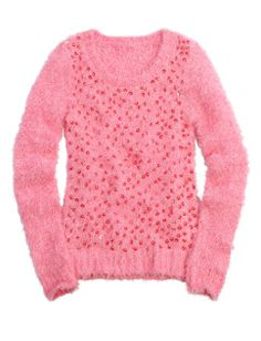 Sequin Fuzzy Sweater | Girls Sweaters Clothes | Shop Justice